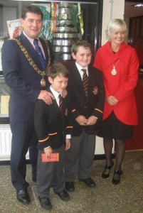 CBC Past Pupil Dara Murphy returned to his old school as Lord Mayor in September.