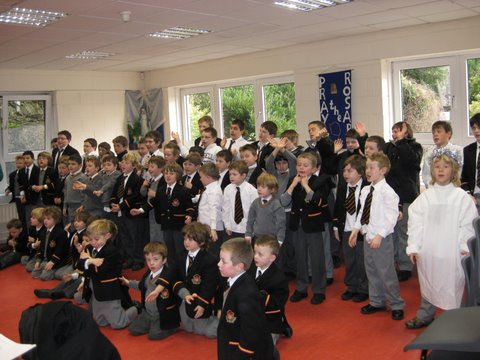 Rehearsing for the Christmas Concert in the Lunch Room