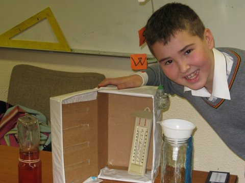 James with his weather station