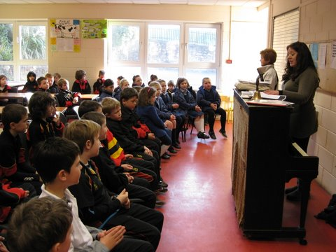 Hymn Practice with Scoil Mhuire