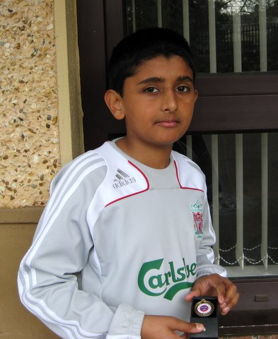 Fahd with Munster Cricket Medal