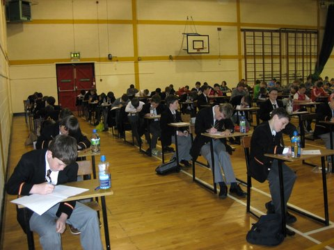 The Secondary School Gym was the venue for the assessment test