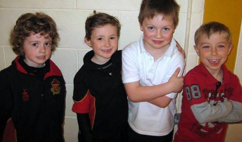 First Class boys between races