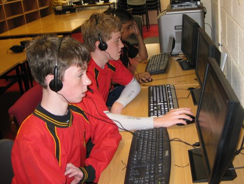 Sixth Class boys try out the French course which will be introduced to the Preparatory School in September.