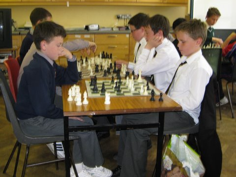 CBC Chess Team in action (Right to Left: Paddy, Billy and Conor)