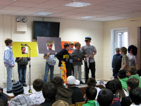 Fourth Class performed a short play