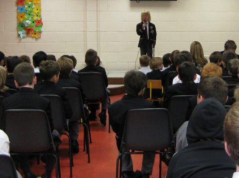 A confident individual performance at the school concert