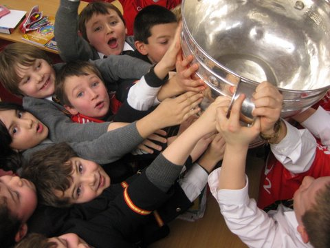 Second Class raise the cup