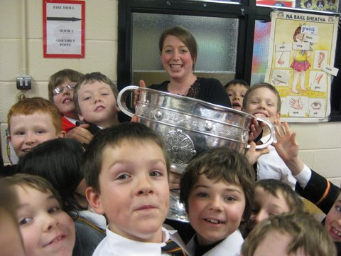 A great welcome for Sam Maguire