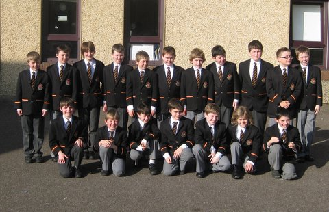 Fourth Class prior to their departure for Fr Mathew Hall this morning