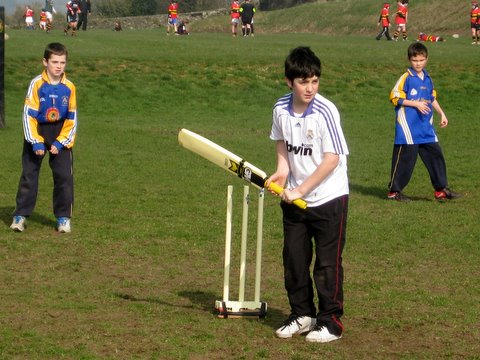 Getting ready to defend the wicket
