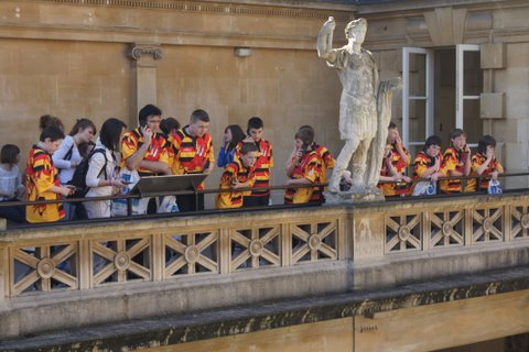 Balcony overlooking Roman Baths