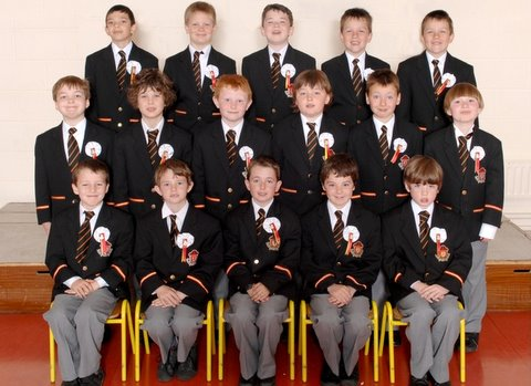 The boys of Second Class who made their First Holy Communion
